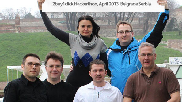 2buy1click Hackathon in Belgrade 2013