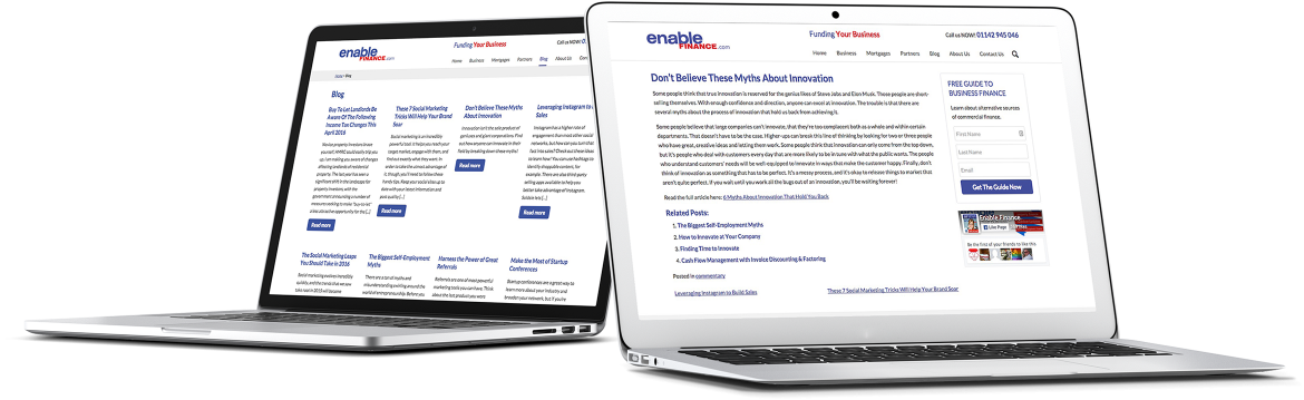 Enable Finance Case Study tablets