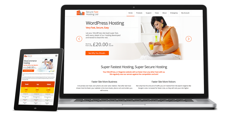 Secure Fast Hosting Showcase Home