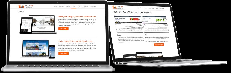 Secure Fast Hosting Showcase website speed