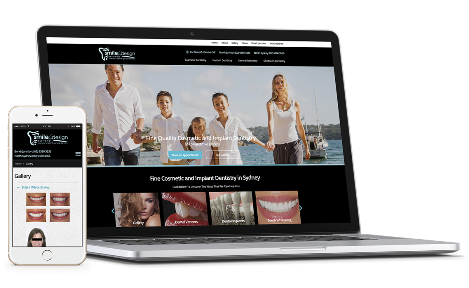 Smile By Design Showcase mobile