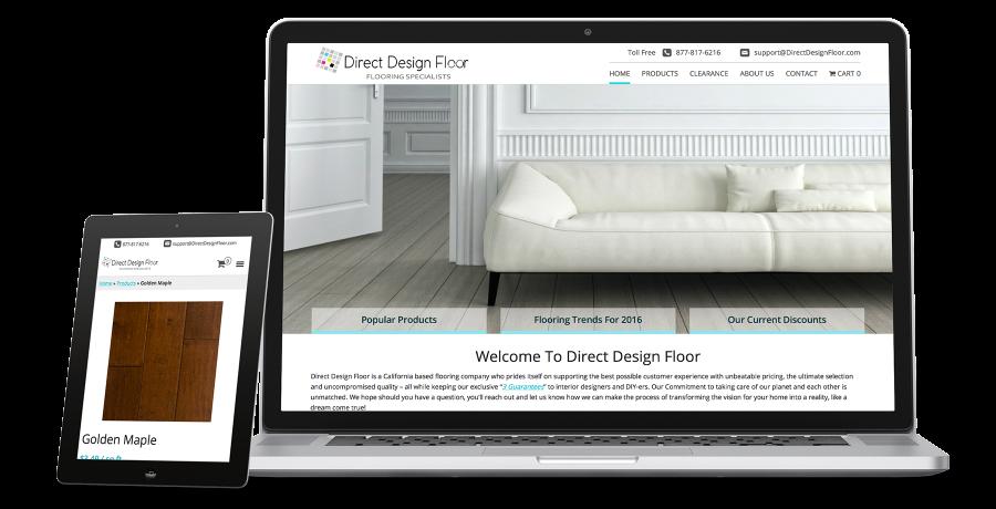DirectDesignFloor Showcase tablet