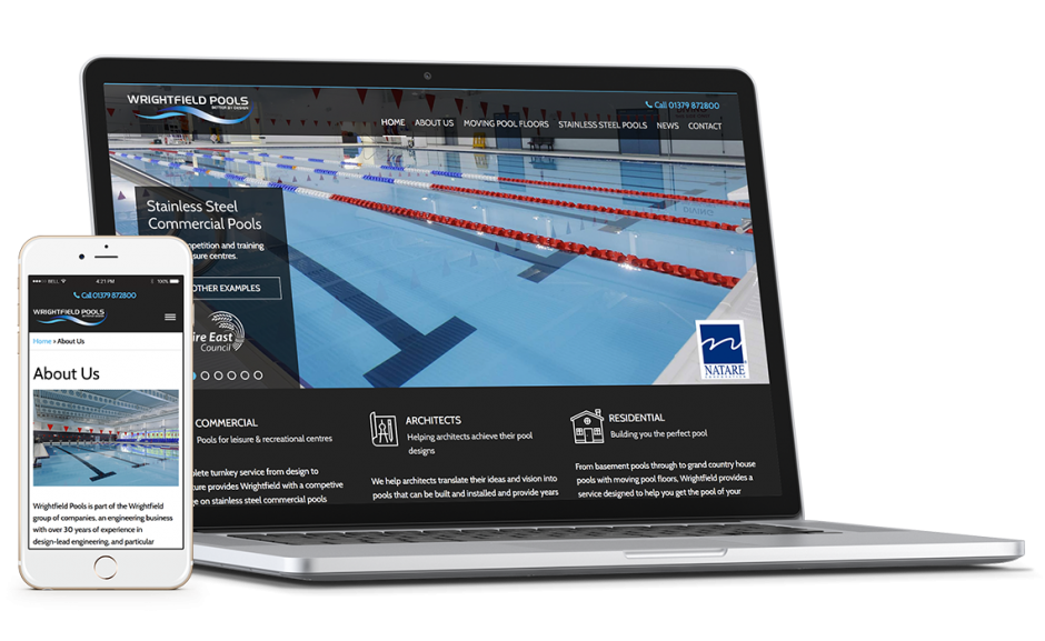 Wrightfields pools corporate showcase featured