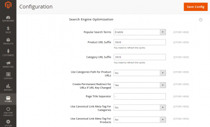 Magento 2 Canonical Meta Tags
