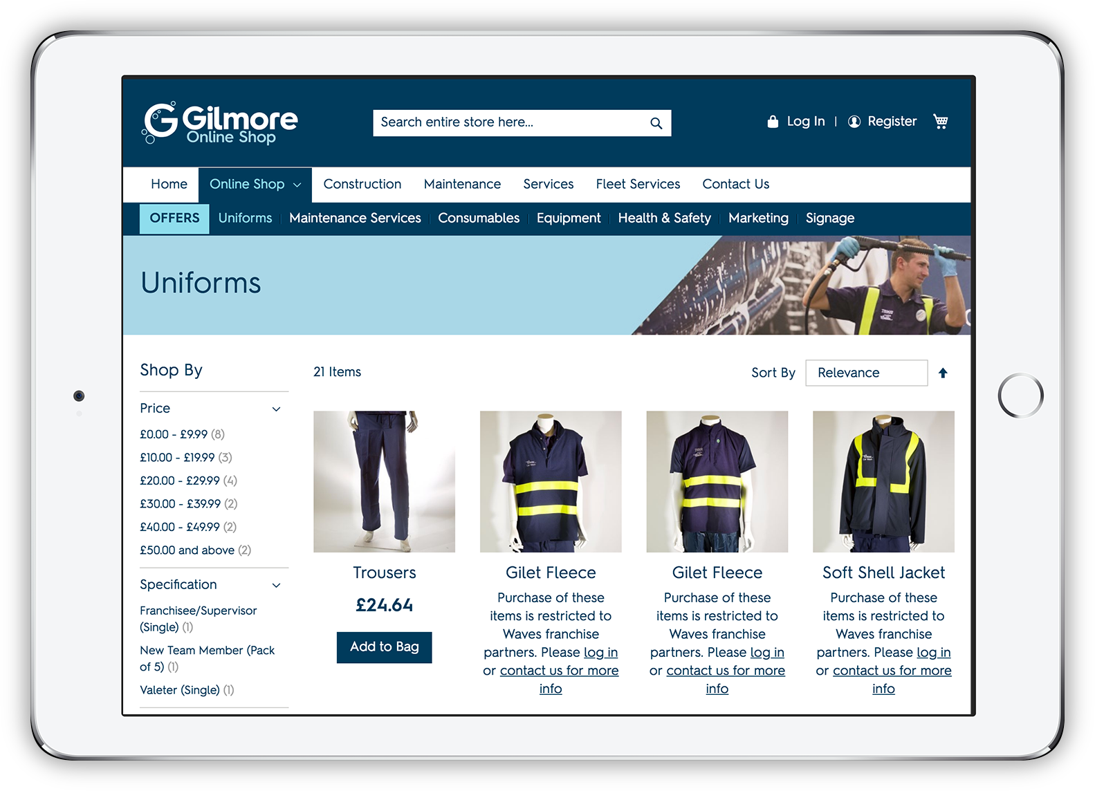 Gilmore Consultancy product listings