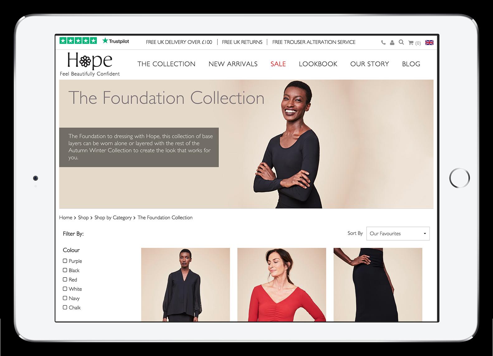 Hope Fashion Category Page
