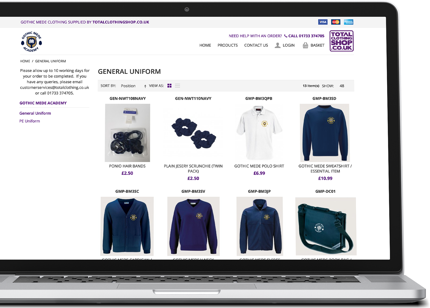 Total Clothing Shop Preview