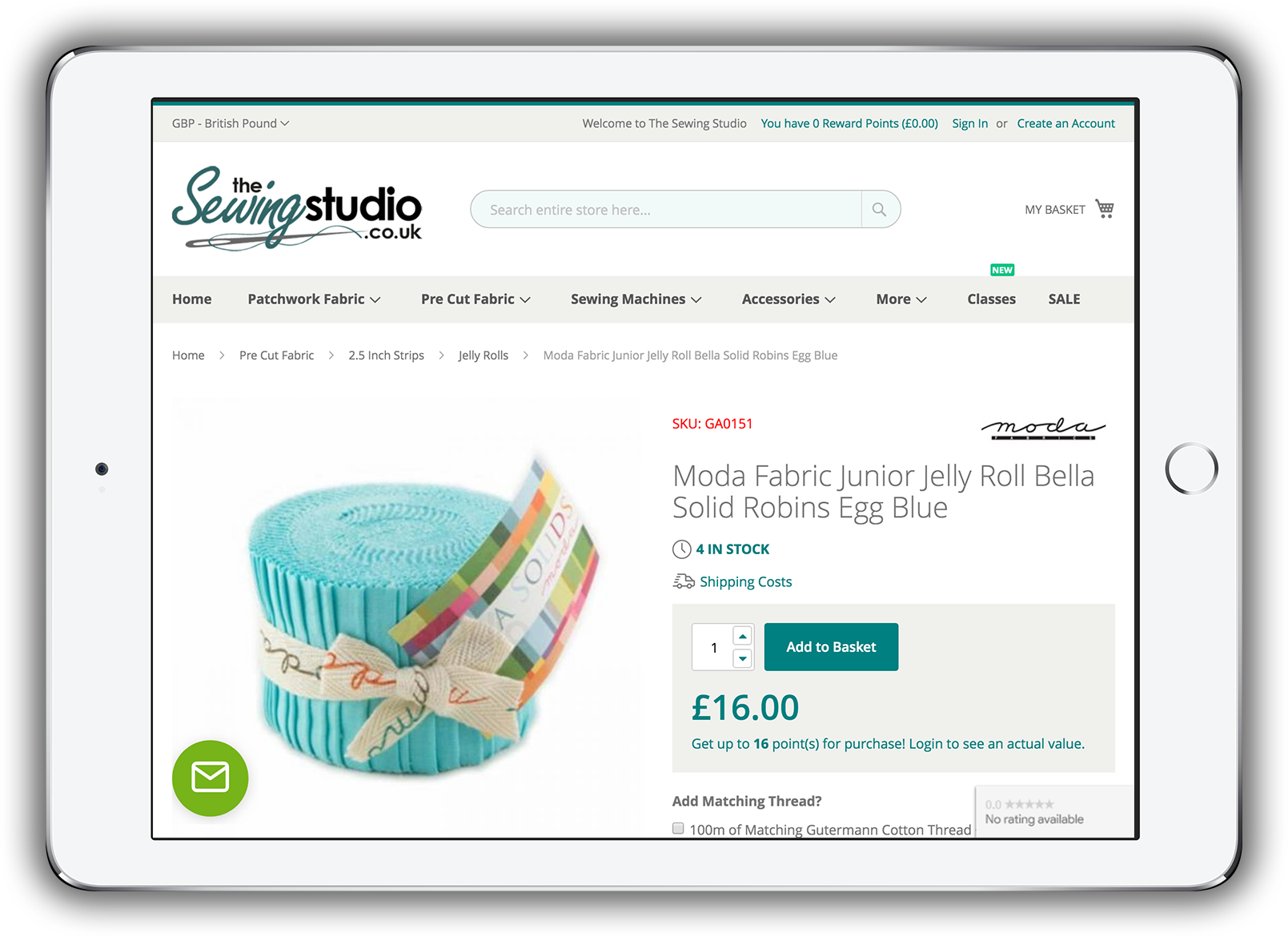 The Sewing Studio - Product Page