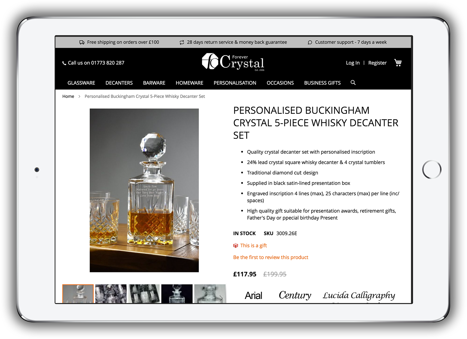 Forever Crystal - Personalisation