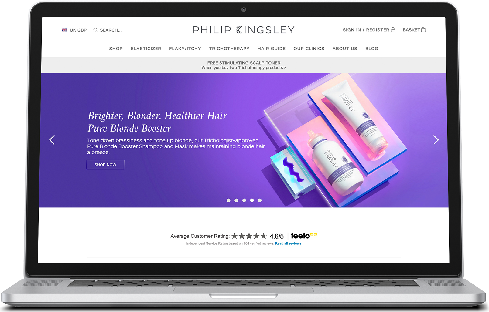 Philip Kingsley Case Study desktop