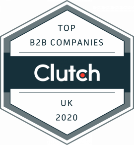 Clutch Leading B2B Company badge - Top B2B services provider