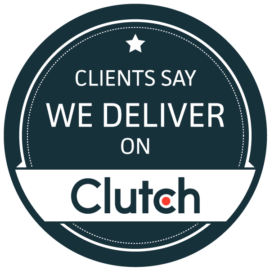UK's Leading Magento Agency 2buy1click -Clutch we deliver badge