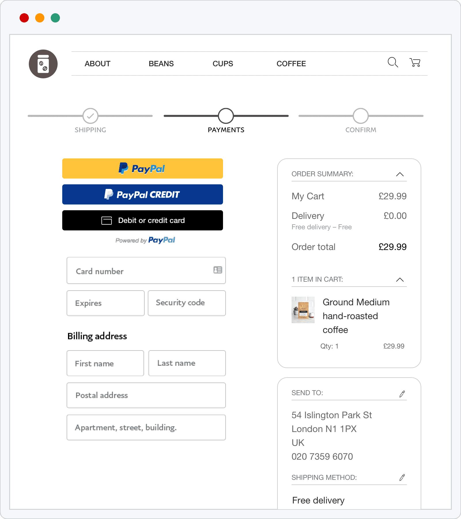 Paypal Integration Checkout